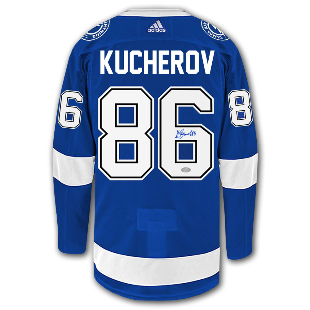 Nikita Kucherov Tampa Bay Lightning Adidas Pro Autographed Jersey