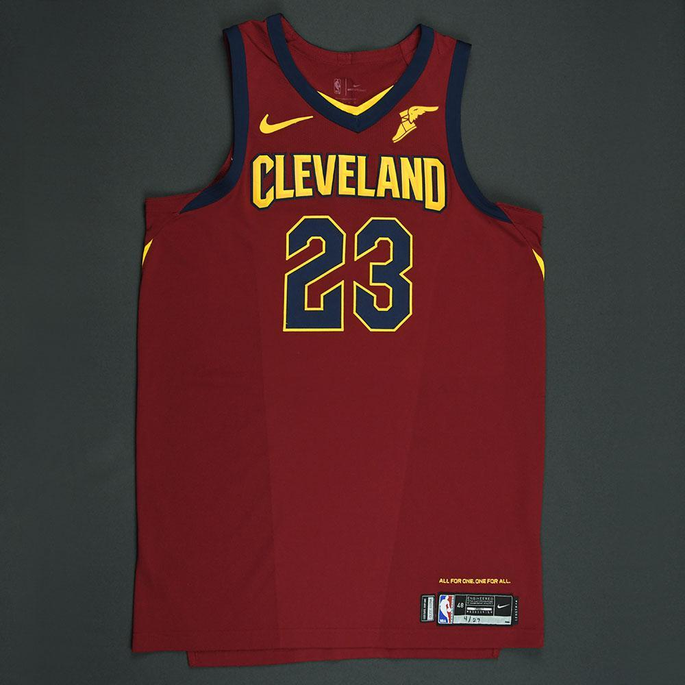 LeBron James - Cleveland Cavaliers - 2018 NBA Playoffs Game-Worn Jersey - Worn in 2 Games - Triple-Double