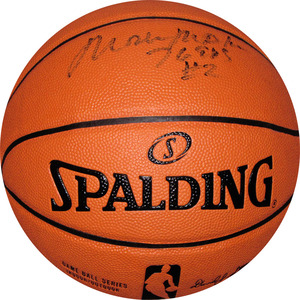 Moses Malone (deceased) Autographed Spalding Basketball