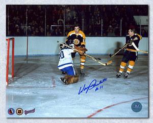 WAYNE CARLETON Boston Bruins SIGNED 8x10 Photo Action Photo