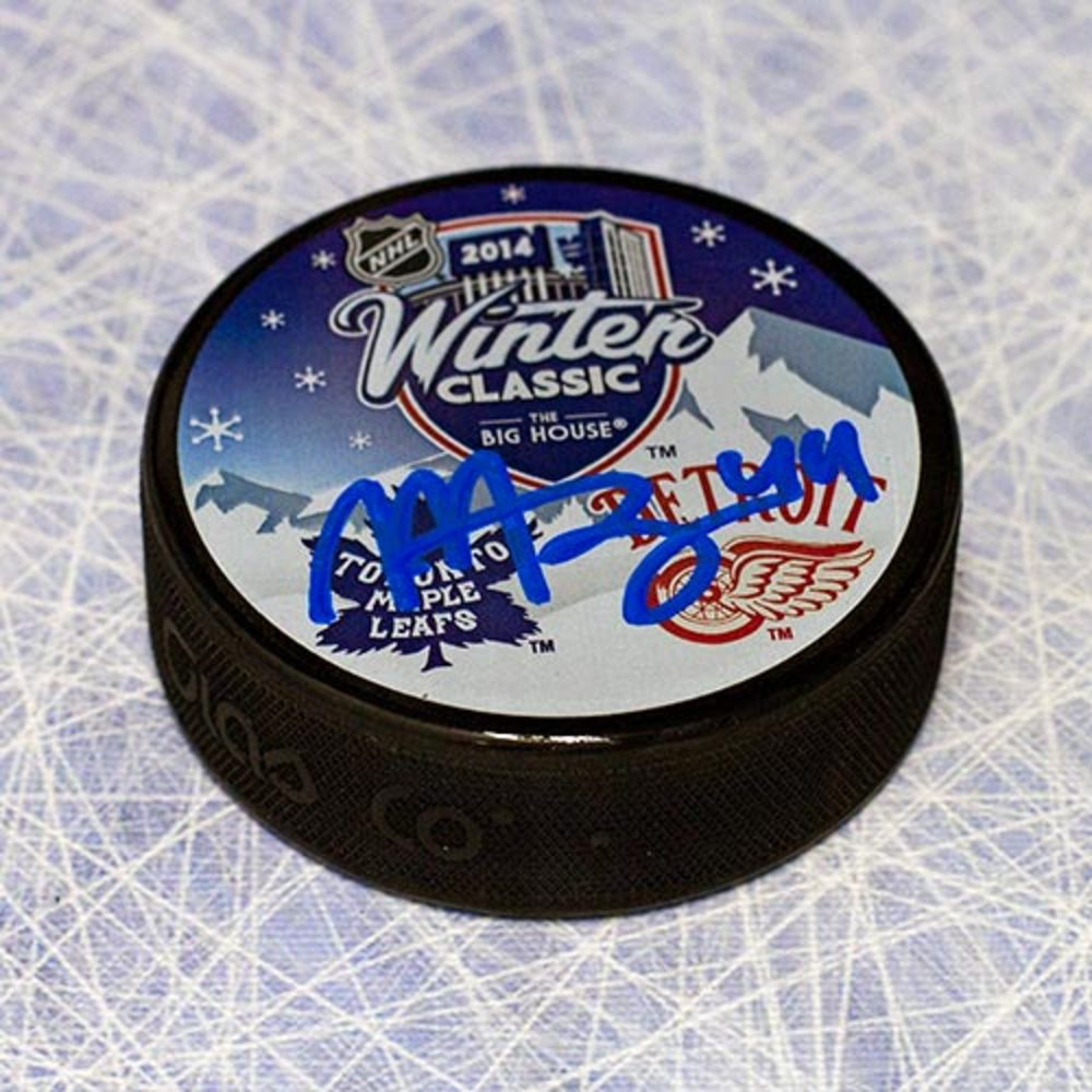 Morgan Rielly Toronto Maple Leafs Autographed 2014 Winter Classic Puck