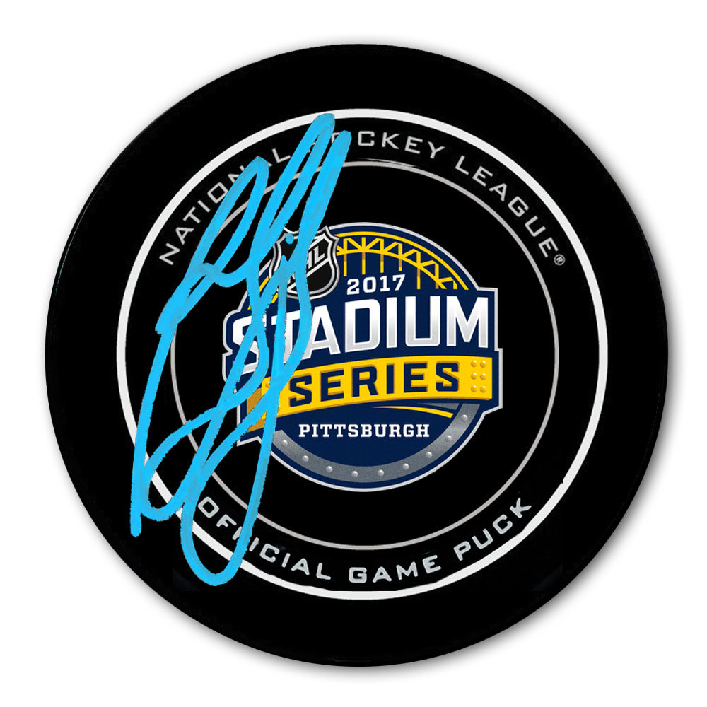 Ron Francis 2017 Stadium Series Autographed Official Game Puck Pittsburgh Penguins