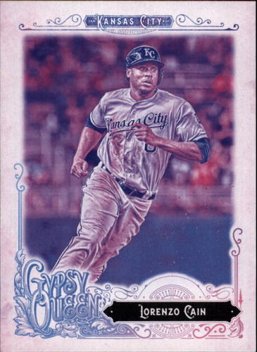 Photo of 2017 Topps Gypsy Queen Missing Blackplate #219A Lorenzo Cain