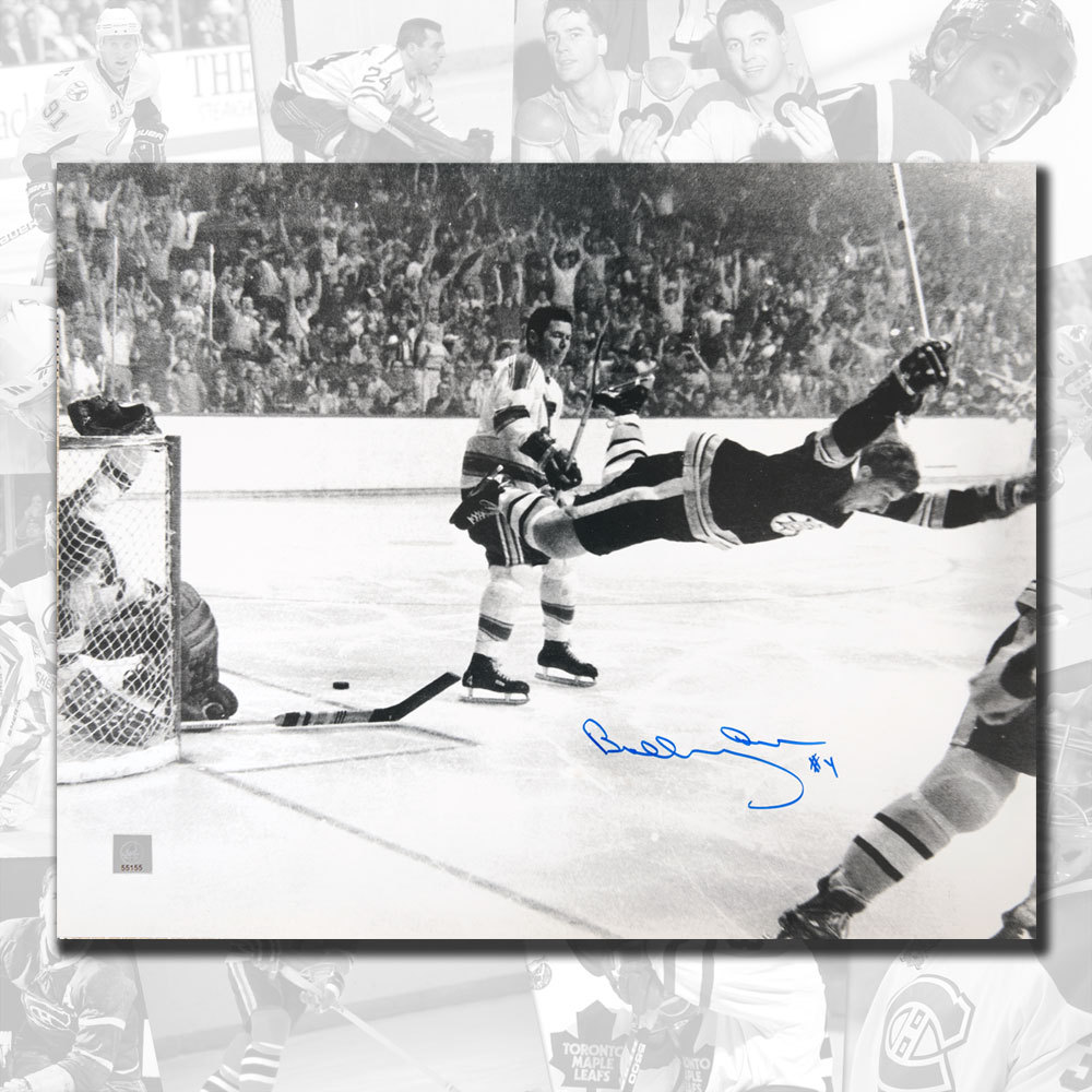 Bobby Orr Boston Bruins The Goal Autographed 11x14 GNR