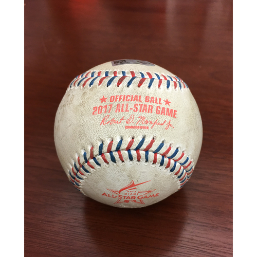 Photo of 2017 All-Star Game Auction: Game-Used Baseball - Pitcher: Wade Davis, Batter: Robinson Cano - thrown for first 2 pitches of at bat before HR - Top 10th