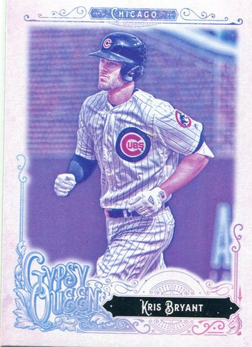 Photo of 2017 Topps Gypsy Queen Missing Blackplate #1A Kris Bryant -- NLCS roster