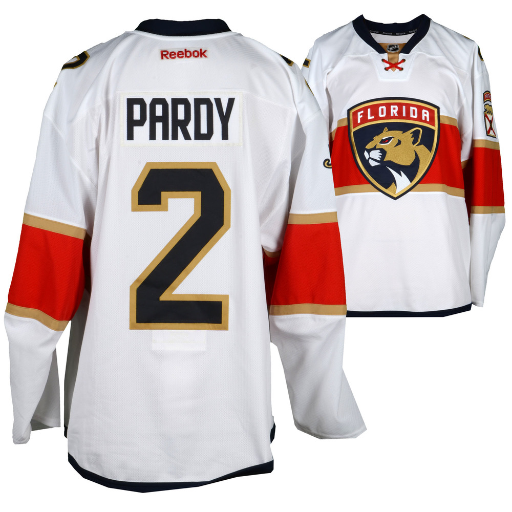 Adam Pardy Florida Panthers Player-Issued #2 White Jersey From The 2016-17 NHL Season - Size 58