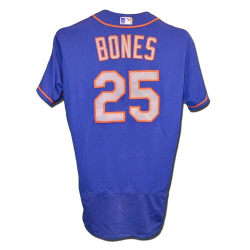 Photo of Ricky Bones #25 - Game Used Blue Alternate Road Jersey - Mets vs. Phillies - 10/1/17