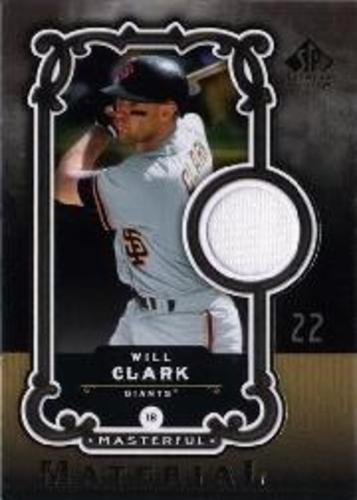 Photo of 2007 SP Legendary Cuts Masterful Materials #WC Will Clark