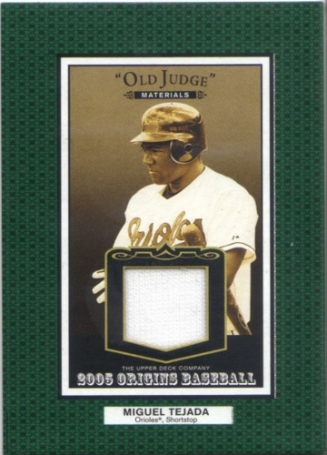 Photo of 2005 Origins Old Judge Materials Jersey #TE Miguel Tejada