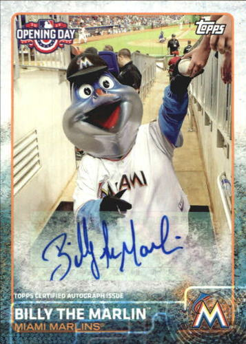 Photo of 2015 Topps Opening Day Mascot Autographs #MABT Billy the Marlin