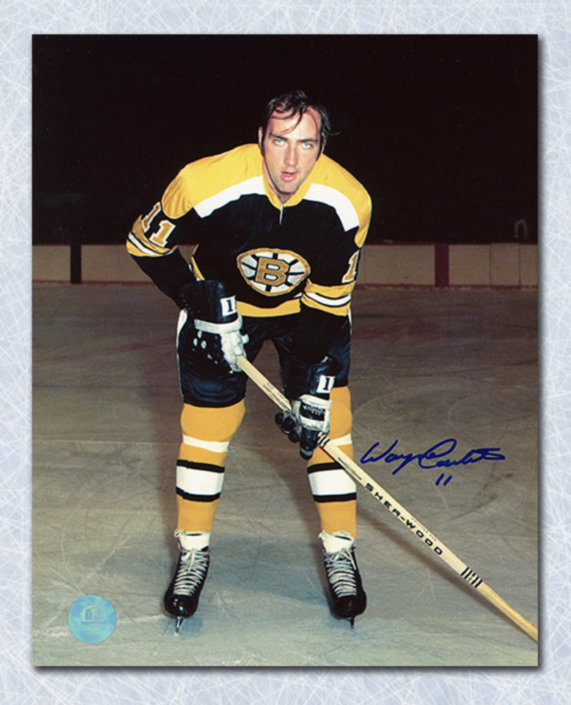 Wayne Carleton Boston Bruins Autographed Hockey 8x10 Photo