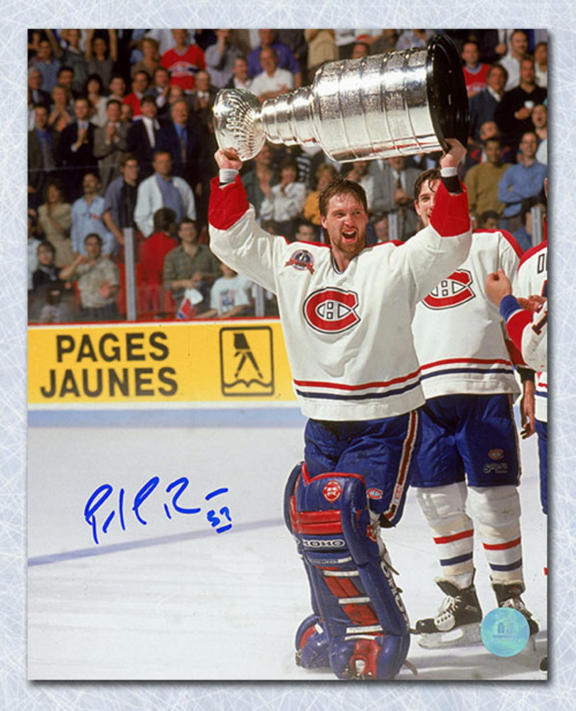 Patrick Roy Montreal Canadiens Autographed 1993 Stanley Cup 8x10 Photo