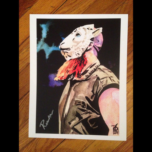 "Photo of Erick Rowan SIGNED 11"" x 14"" Rob Schamberger Print"