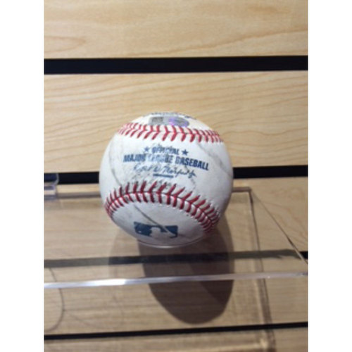 Photo of Game-Used Baseball -- Jake Peavy to Joey Votto, Double, also Brandon Phillips Foul Ball