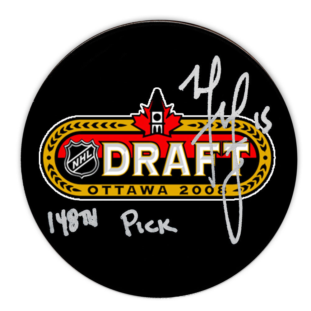 Matt Martin 148th Pick 2008 NHL Draft Day Autographed Puck Toronto Maple Leafs