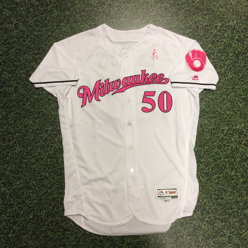 Jacob Barnes 2017 Mother's Day Tribute Game-Used Jersey