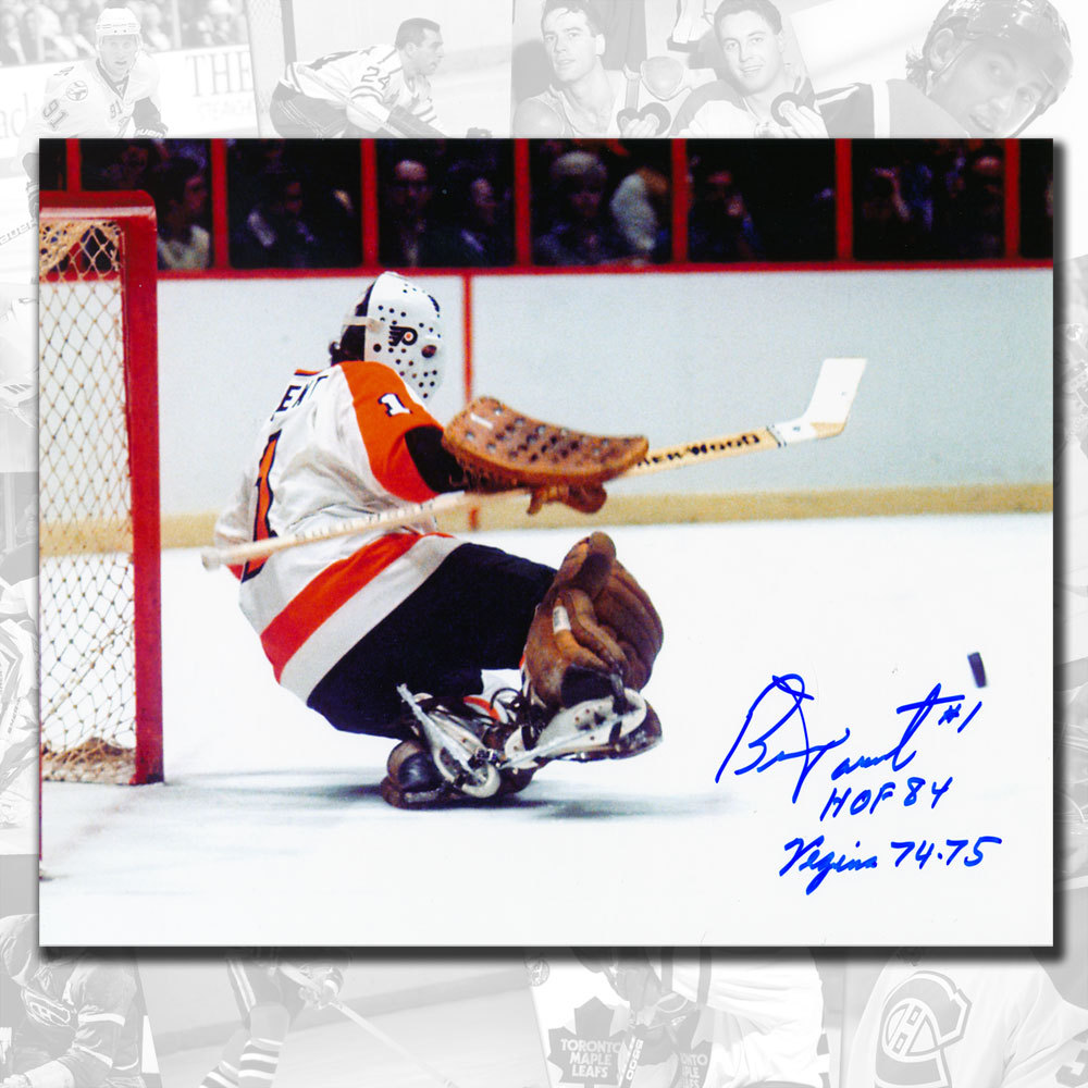 Bernie Parent Philadelphia Flyers Vezina 74-75 Signed 8x10