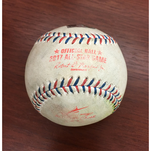 Photo of 2017 All-Star Game Auction: Game-Used Baseball - Pitcher: Chris Sale, Batter: Daniel Murphy - Single; Nolan Arenado - Single; Ryan Zimmerman - Foul - Bot 2nd
