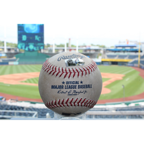 Photo of Game-Used Ian Kinsler Double (7/17/17 DET at KC)