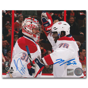 Carey Price & P.K. Subban Autographed Montreal Canadiens 8X10 Photo