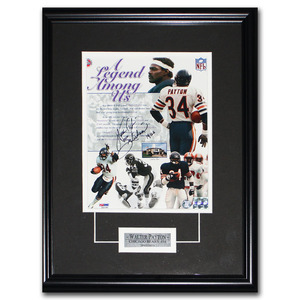Walter Payton (deceased) Autographed Chicago Bears Framed 8X10 Photo