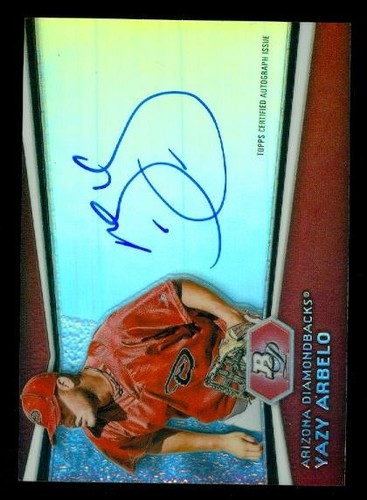 Photo of 2012 Bowman Platinum Prospect Autographs #YA Yazy Arbelo