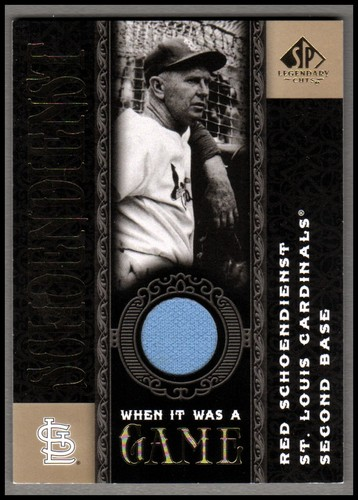 Photo of 2007 SP Legendary Cuts When it Was a Game Memorabilia #RS Red Schoendienst