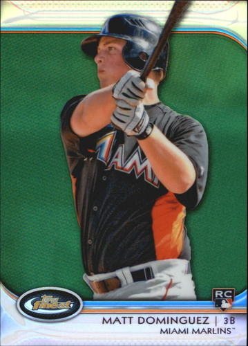 Photo of 2012 Finest Green Refractors #64 Matt Dominguez