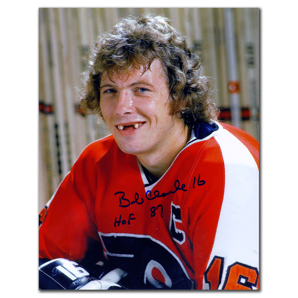 Bobby Clarke Philadelphia Flyers HOF Grin Autographed 8x10