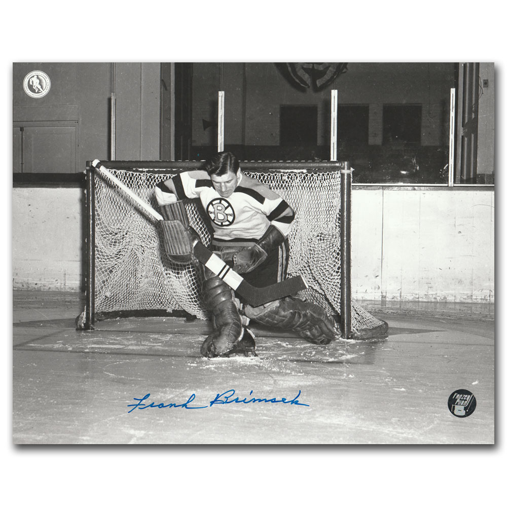 Frank Brimsek (deceased) Autographed Boston Bruins 8X10 Photo