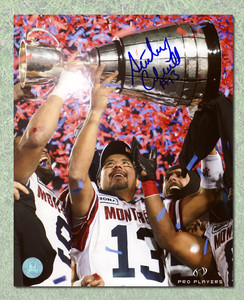Anthony Calvillo Montreal Alouettes Autographed Grey Cup 16x20 Photo