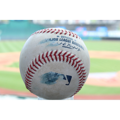 Photo of Game-Used Mikie Mahtook Single (7/17/17 DET at KC)