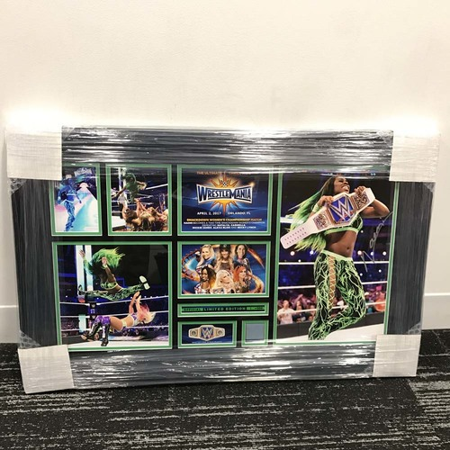 Photo of Naomi WrestleMania 33 Signed Commemorative Plaque (#1 of 500)