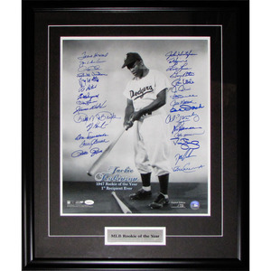 MLB Rookies-of-the-Year Multi-Signed limited-edition 16X20 Framed Photo Andre Dawson, Tom Seaver, Pete Rose, Don Newcombe, Darryl Strawberry, Doc Gooden & More