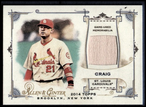 Photo of 2014 Topps Allen and Ginter Relics #FRBAC Allen Craig B