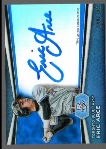 Photo of 2012 Bowman Platinum Prospect Autographs Blue Refractors #EA Eric Arce