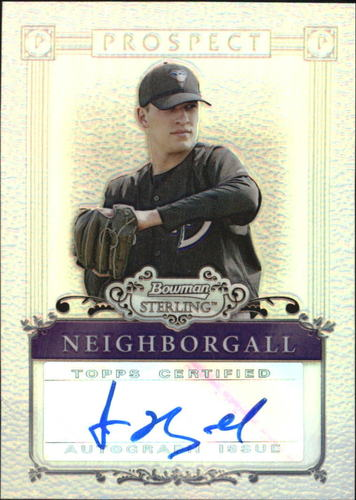 Photo of 2006 Bowman Sterling Prospects Refractors #JN Jason Neighborgall AU