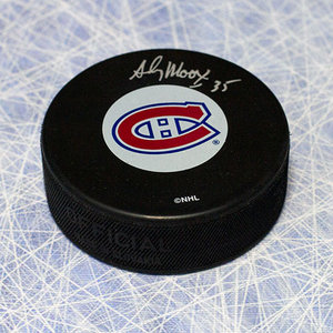 Andy Moog Montreal Canadiens Autographed Hockey Puck