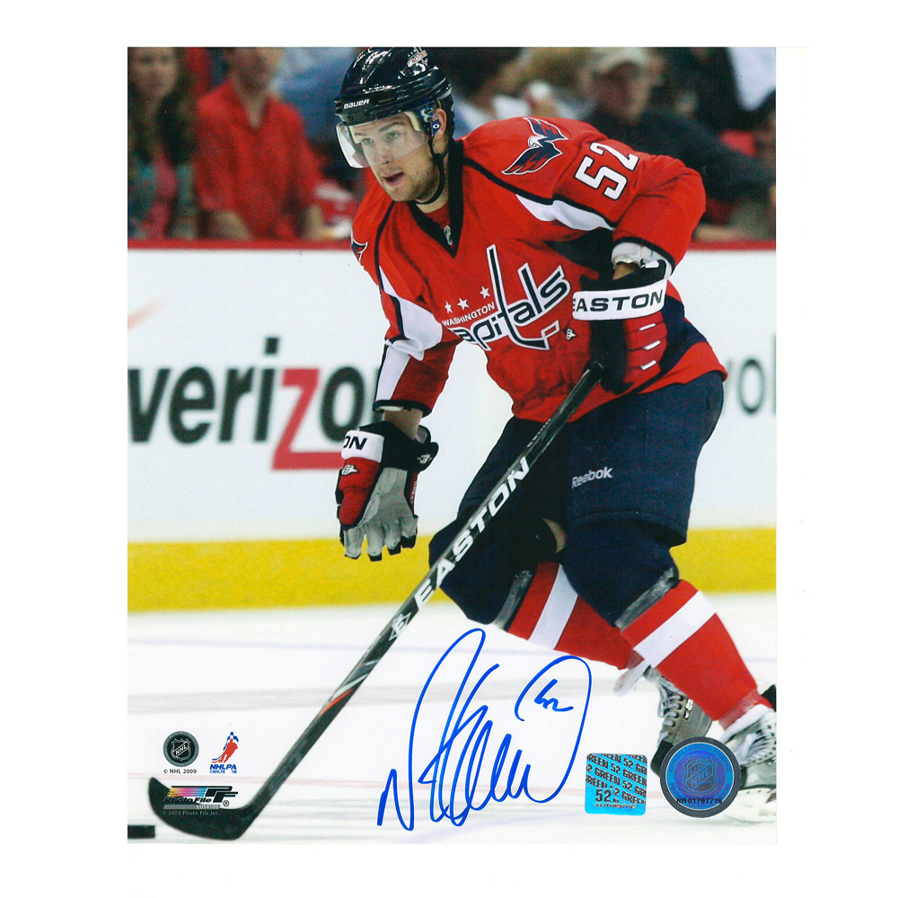 MIKE GREEN Signed Washington Capitals 8 X 10 Photo - 70432