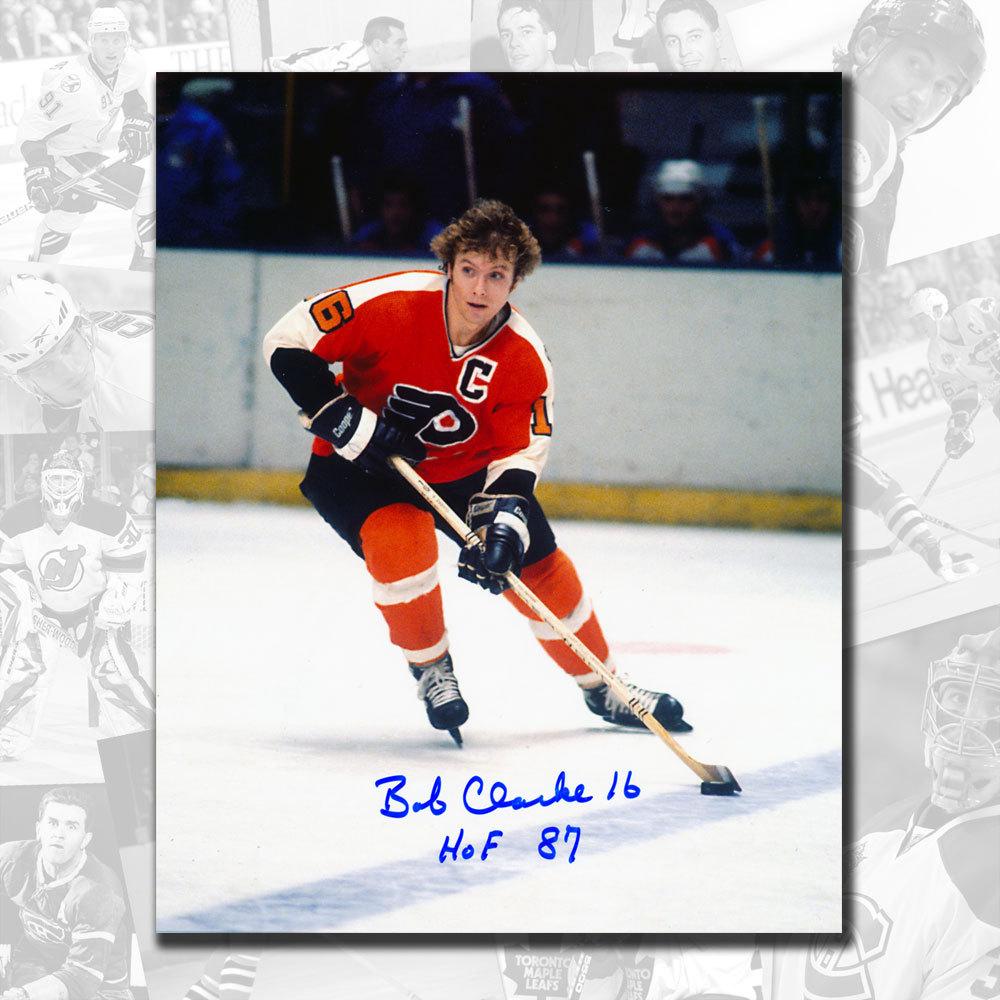 Bobby Clarke Philadelphia Flyers HOF Rush Autographed 8x10