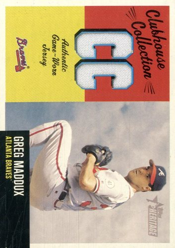 Photo of 2002 Topps Heritage Clubhouse Collection #CCGM Greg Maddux Jsy