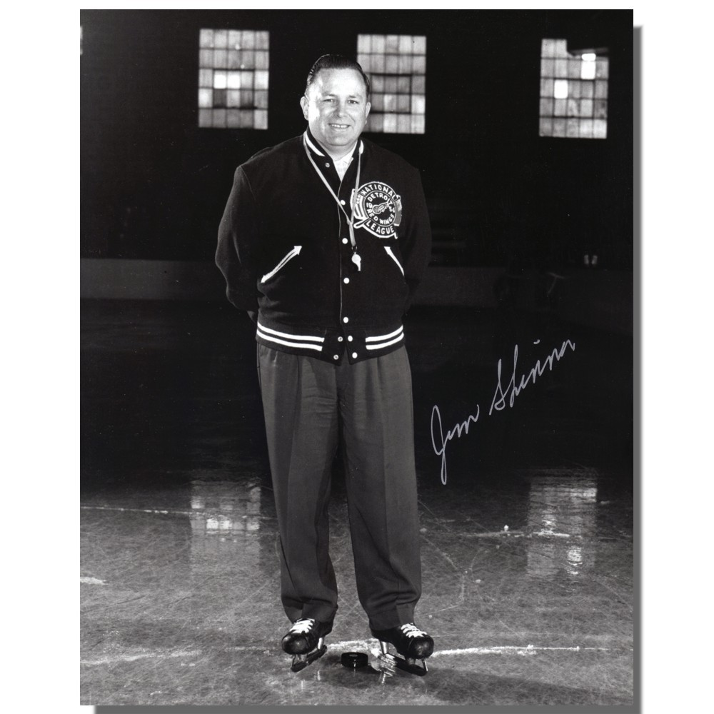 Jimmy Skinner (deceased)  Autographed Detroit Red Wings 8x10 Photo