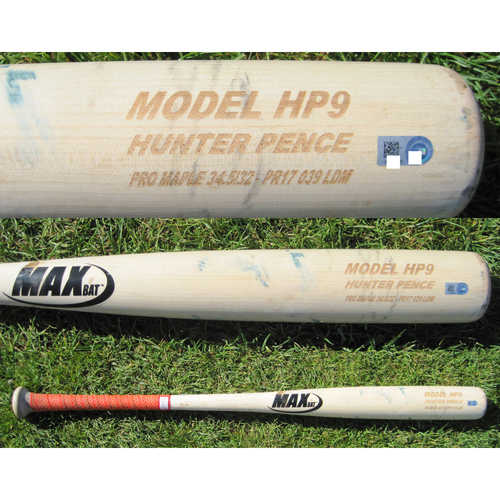 Photo of San Francisco Giants - Team Issued Broken Bat - Spring Training - Hunter Pence