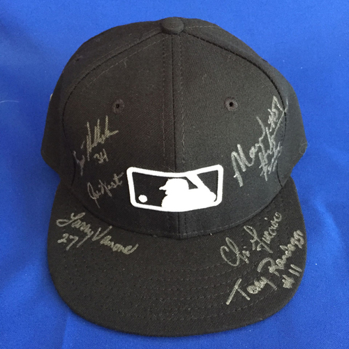 Photo of UMPS CARE AUCTION: 2016 World Series Crew Signed MLB Hat Size 7 1/8