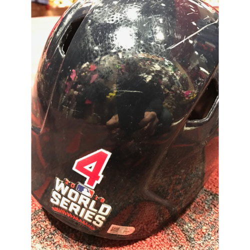 Photo of Coco Crisp Game-Used Helmet, 2016 World Series vs. Chicago Cubs - GAME 7