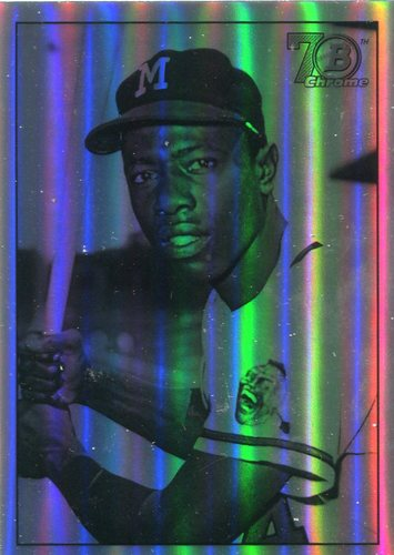 Photo of 2017 Bowman Chrome '48 Bowman Refractors #48BHA Hank Aaron