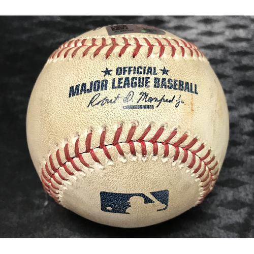 Photo of Game-Used Baseball - Chris Owings Sac Fly & Daniel Descalso Single vs. Anthony Swarzak