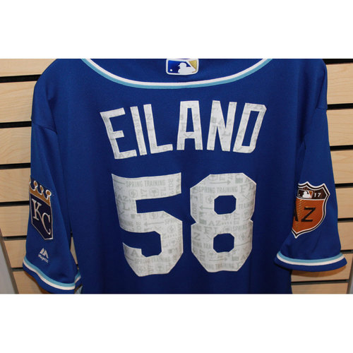 Photo of Game-Used Dave Eiland Spring Training Jersey (Size 48) (4/14/17 LAA @ KC)
