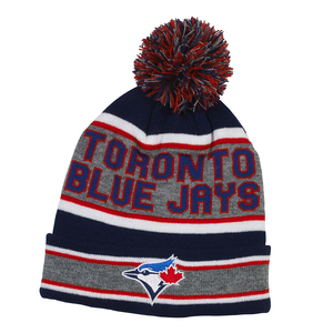 Toronto Blue Jays Youth Pom Pom Knit Cap Grey/Royal by Gertex